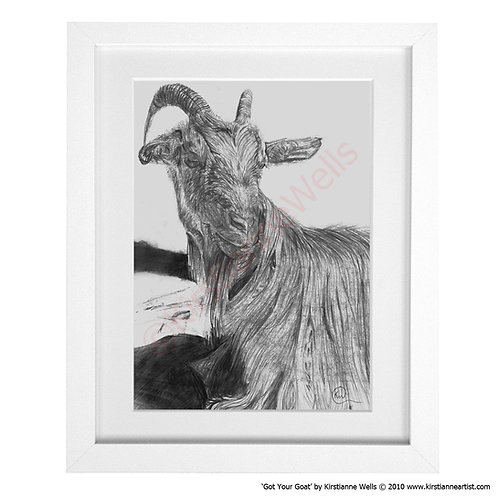 Got Your Goat (Art Print) by Kirstianne Wells