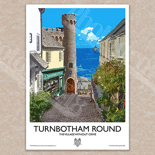Turnbotham Round (Ask a Policeman) - Vintage Style - Poster / Magnet / Postcard