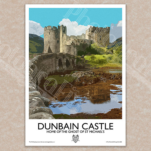 Dunbain (Ghost of St. Michael's) - Vintage Style - Poster / Magnet / Postcard