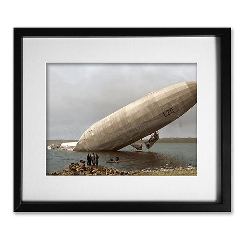 Zeppelin Crash - Single Use Commercial Image License