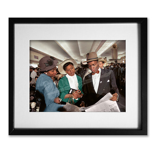 West Indians at Southampton (Windrush) 1956 - Colourised Print