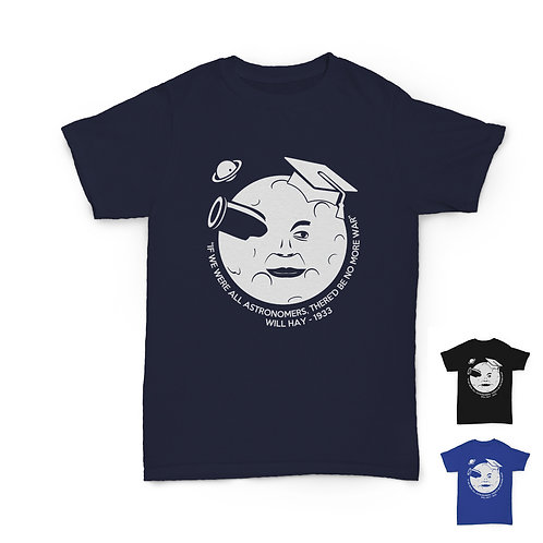 Will Hay Tee - Astronomer (Man in the Moon) - 3 Colours