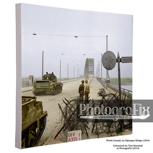 Nijmegen Bridge (Welsh Guards) Canvas