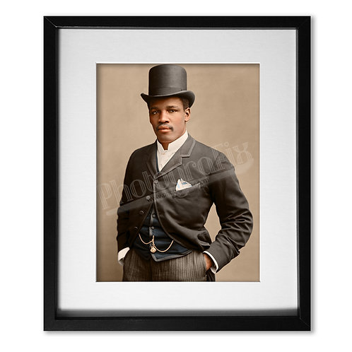 Peter Jackson 'Black Prince' Australian Boxer 1889 - Colourised Print