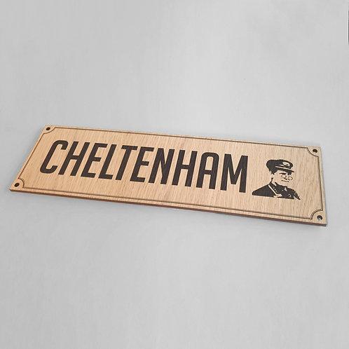 Will Hay - Cheltenham (Gentlemen) Toilet Wooden Sign