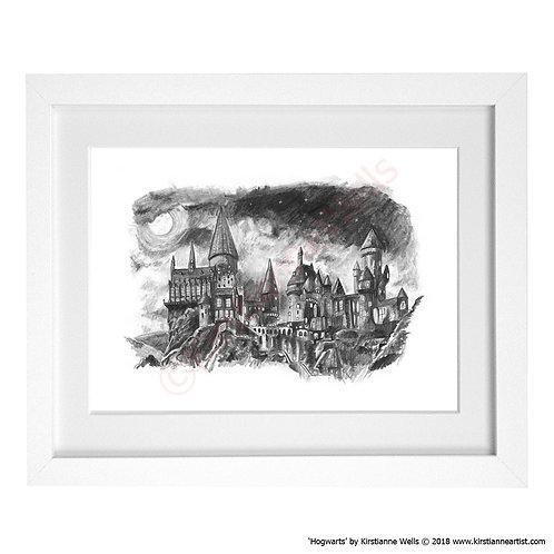 Hogwarts Castle (Harry Potter) art print by Kirstianne Wells