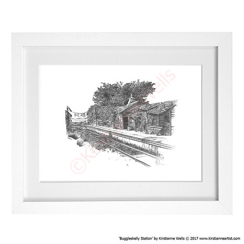Buggleskelly Station (Art Print) by Kirstianne Wells