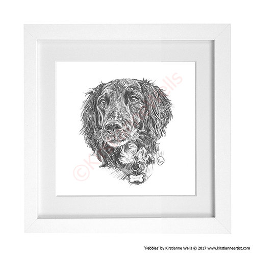Pebbles - Dog Portrait (Art Print) by Kirstianne Wells