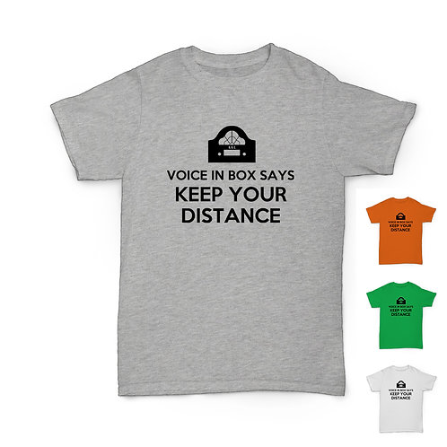Will Hay Tee - Voice in Box - Lockdown Self Isolation T-Shirt - 4 Colours