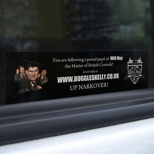 Will Hay - Car Window Sticker - Buggleskelly - Up Narkover