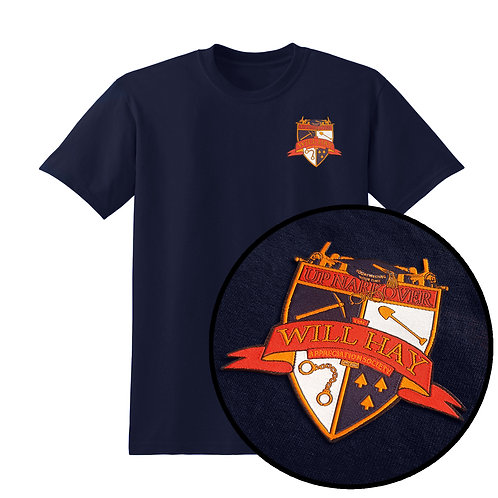 Will Hay Tee - Embroidered Crest T-Shirt - 5 Colours