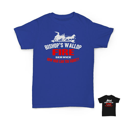 Will Hay Tee - Where's That Fire - Bishop's Wallop T-Shirt - 2 Colours