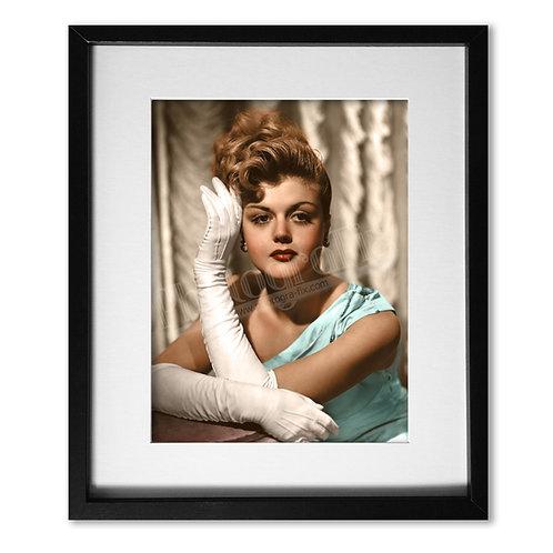 Angela Lansbury c1950 - Colourised Print