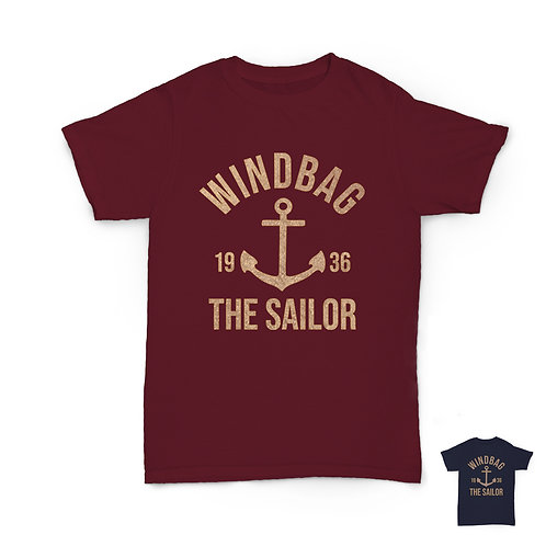 Will Hay Tee - Windbag the Sailor T-Shirt - 2 Colours