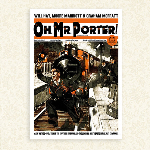 Oh, Mr. Porter! (Will Hay) Magazine Cover Poster