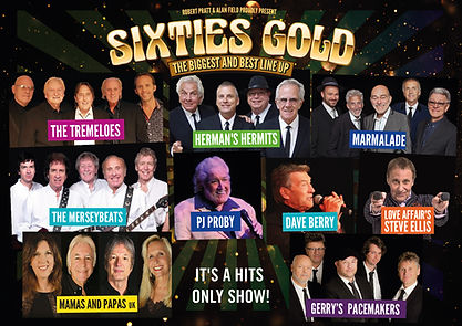 Sixties Gold Tour 2021 Poster