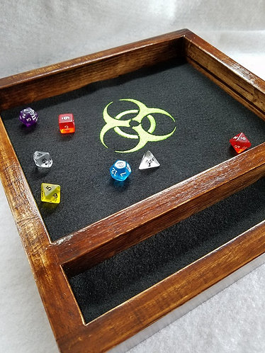 Biohazard Outbreak Zombie Hazard-- Legendary Dice Rolling Tray