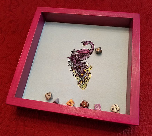 Perfect Peacock -- Legendary Dice Rolling Tray