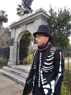 Mr Bones at Colonial Park Cemetery