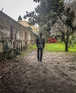 Mr Bones in Colonial Park Cemetery