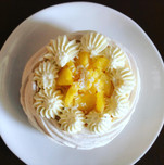 Pavlova à la mangue