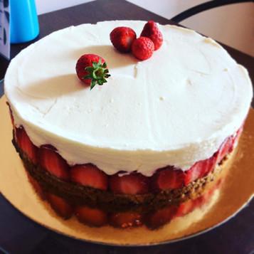 Cheese cake à la fraise