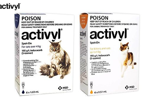 Activyl Cats & Kittens up to 4kg - 6mths