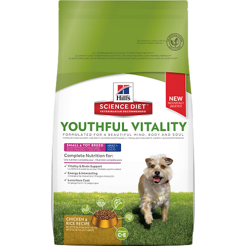 Hills Dog 7+ Youthful Vitality Small Breed 1.6Kg