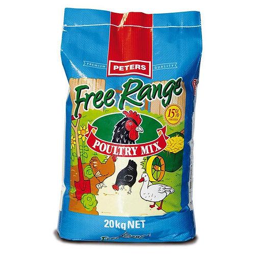 Peter's Free Range Poultry Mix 20kg