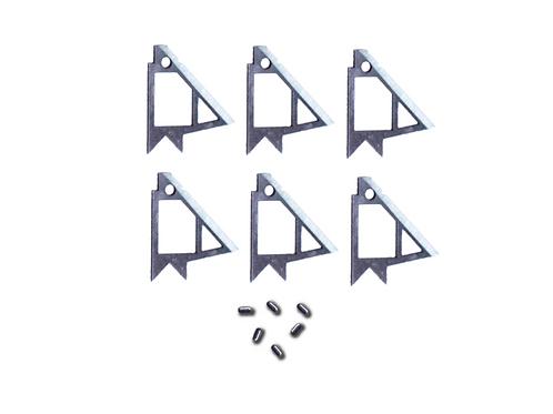 REK 1.2 FXD Replacement/Conversion Blades -set of 6