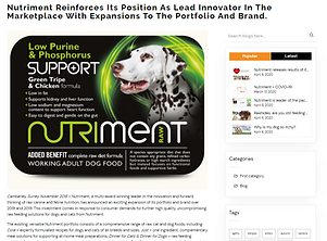 Nutriment Reinforces Position as Lead In