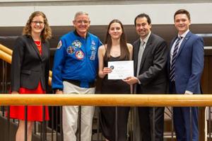 QPE sponsors Cailyn Calder's United Space School trip