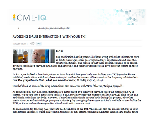 Avoiding Drug Interactions with your TKI