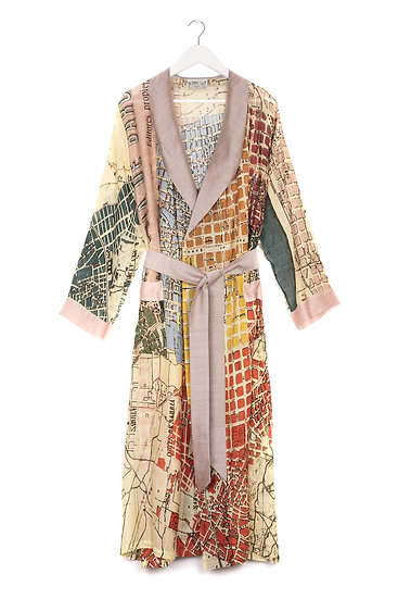 One Hundred Stars Barcelona Natural Map Gown