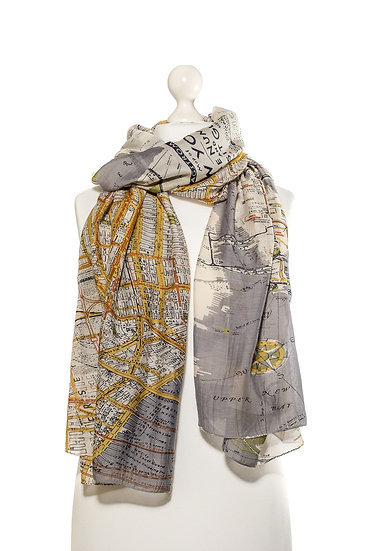 One Hundred Stars New York City Map Scarf