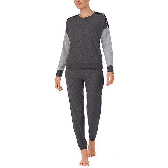 DKNY Loungewear Jogger Set in Grey/Black