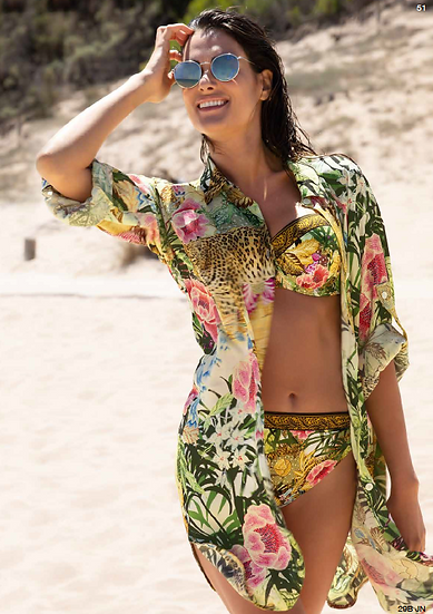 Jungle Panthere Beach Blouse by Lise Charmel