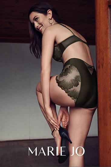 Phoebe Deep Brief In Olive Green By Marie Jo