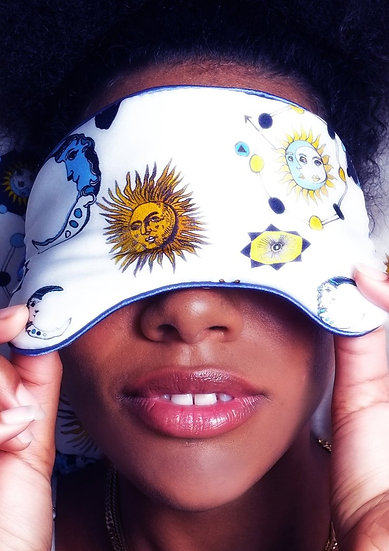 ''Kiss the  Sky'' Silk Eye Mask by Jessica Russell Flint