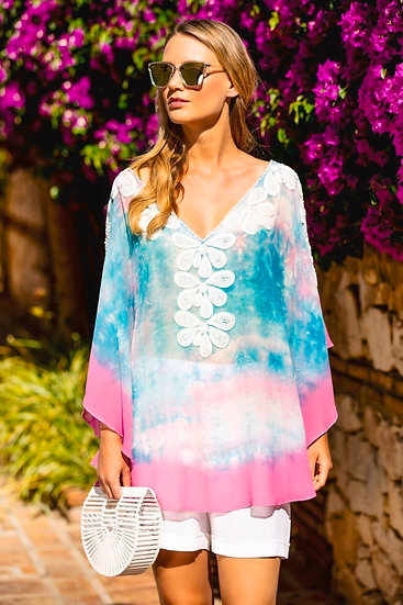 copy of Rumba Kaftan Turquoise/Pink by Lindsey Brown