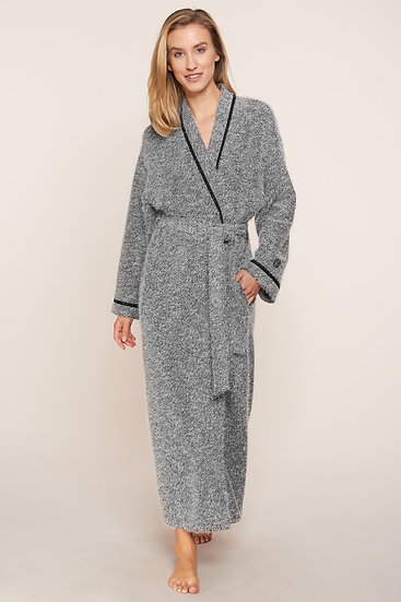 Feraud Couture Knitted Robe In Dark Grey