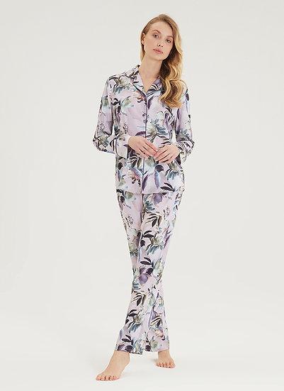 Blossom Satin Pyjamas by Black Spade