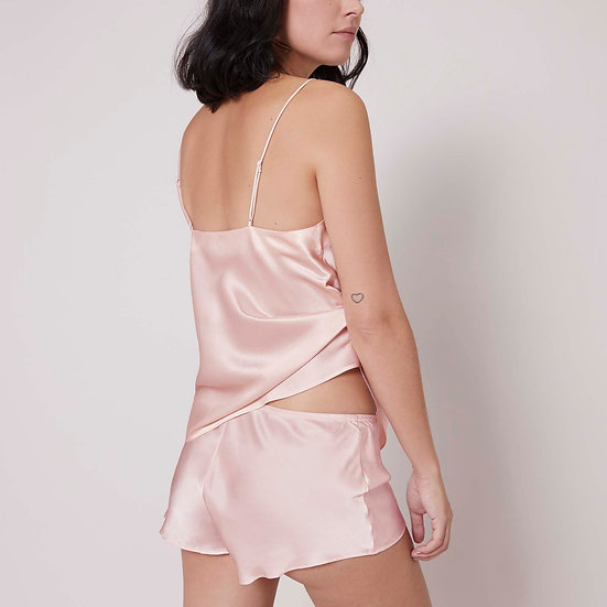 Simone Perele 100% Silk Shorts ''Dream'' in Soft Blush Pink