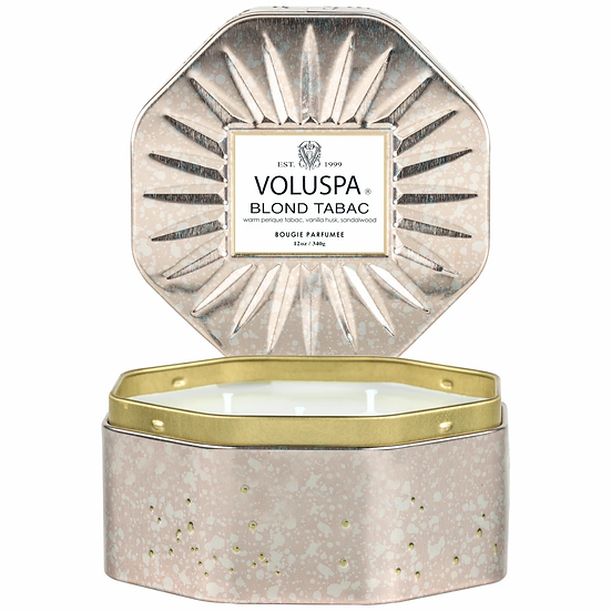 Voluspa Blond Tabac Octagon Candle Tin