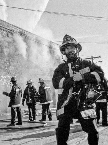 Fireman, Smiling