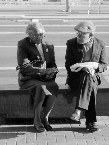 Couple on Bench, Market St