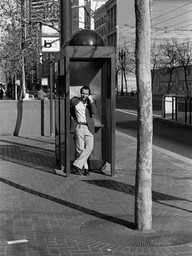 Man in Phone Booth