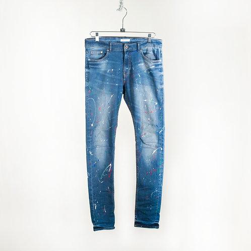 Paint Splatter Skinny Jeans