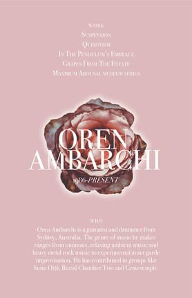 Oren Ambarchi Poster