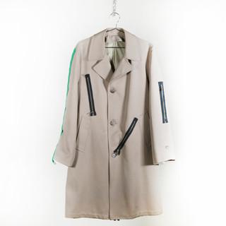 Zipper Green Tassel Coat
